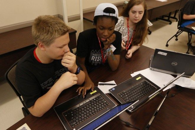 VAMPY students attend classes Thursday, July 13.
